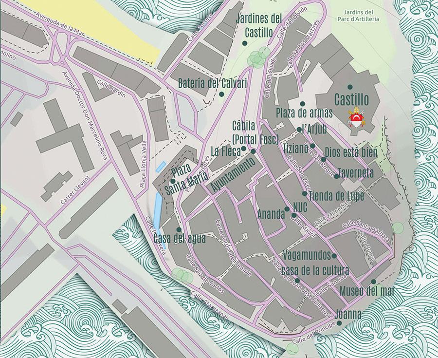 Mapa del Rocart Peñíscola 2021